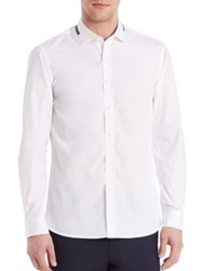 Kent And Curwen Button Front Shirt White