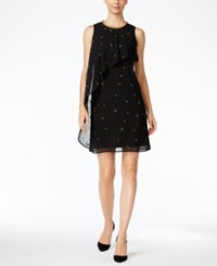 Si Fashions Sl Embellished Glitter Flyaway Dress Black Gold