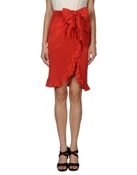 Valentino Boutique Skirts Knee Length Skirts Women Red