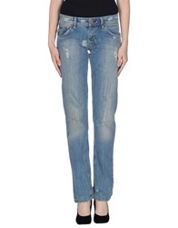 Sweet Years Denim Denim Trousers Women Blue