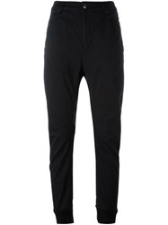 Diesel Drop Crotch Tapered Trousers Black