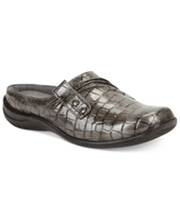 Easy Street Shoes Easy Street Holly Comfort Clogs Women's Shoes Pewter Patent Crocco