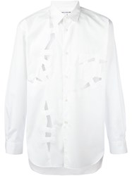 Comme Des Garcons Shirt Cut Out Shirt White
