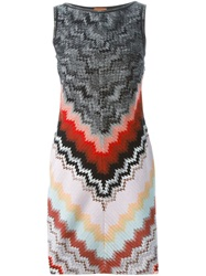 Missoni Chevron Pattern Dress Multicolour