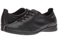 Mephisto Valentina Black Silk Women's Lace Up Casual Shoes