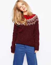Fjall Raven Fjallraven Fair Isle Jumper Red