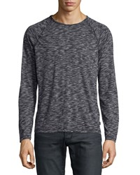 John Varvatos Space Dyed Raglan Long Sleeve Sweater Black Pattern