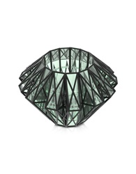 Vojd Studios Translucent Glass Cage Statement Cuff Black