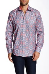 Dolce Guava Geometric Floral Long Sleeve Shirt Blue