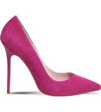 Office Onto Suede Court Shoes Pink Kid Suede