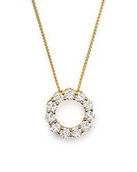 Bloomingdale's Diamond Circle Pendant Necklace In 14K Yellow Gold 2.0 Ct. T.W.