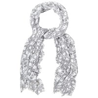 White Stuff Mark Maker Floral Scarf Blue