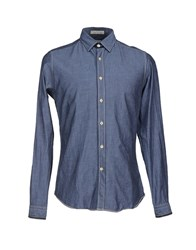 Agho Denim Denim Shirts Men Blue