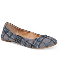 Lucky Brand Emmie Flats Women's Shoes Dark Teal Plaid