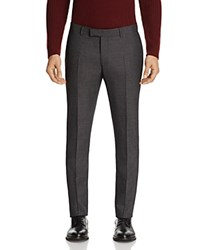 Sandro Notch Micro Check Slim Fit Pants 100 Bloomingdale's Exclusive Gray