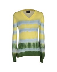 Dandg Knitwear Jumpers Men Yellow
