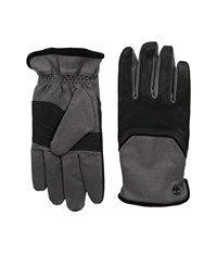 Timberland Gl360033 Waxed Canvas Deerskin Black Extreme Cold Weather Gloves