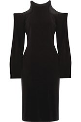 Dion Lee Cutout Stretch Crepe Dress Black