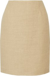 Moschino Cheap And Chic Woven Cotton Blend Skirt Nude