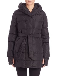 Max Mara Pindaro Hooded Down Jacket Black