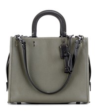 Coach Rogue Leather Tote Green
