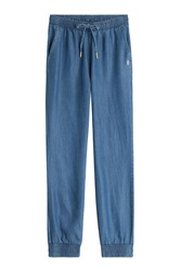 Juicy Couture Relaxed Denim Pants Blue