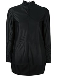 A Tentative Atelier High Low Hem Shirt Black