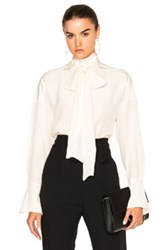 Chloe Crepe De Chine Blouse In White