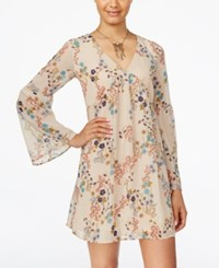 American Rag Juniors' Printed Babydoll Dress Only At Macy's Pale Mauve