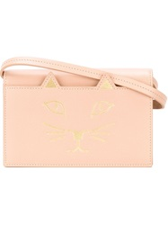 Charlotte Olympia 'Feline' Shoulder Bag Pink And Purple