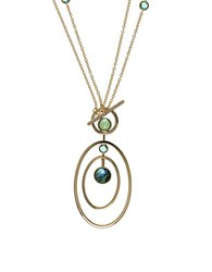 Judith Jack Goldtone Sterling Silver And Marcasite Toggle Necklace