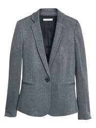 Mango Suit Blazer Dark Grey