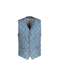 Daniele Alessandrini Suits And Jackets Waistcoats Men Blue