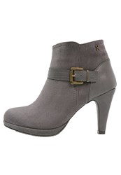Refresh High Heeled Ankle Boots Gris Grey