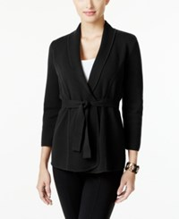 Alfani Belted Cardigan Only At Macy's Deep Black