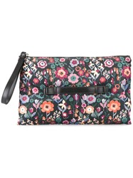Red Valentino Floral Print Clutch Red