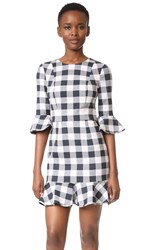 Black Halo Brooklyn Gingham Dress Vischy