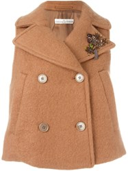 Golden Goose Deluxe Brand Sleeveless Jacket Nude And Neutrals
