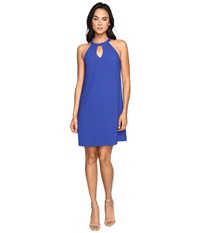 Nicole Miller Keyhole Dress Blue Women's Dress