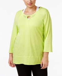Calvin Klein Performance Plus Size Keyhole T Shirt