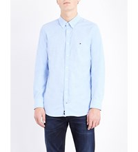 Tommy Hilfiger Oxford Slim Fit Stretch Cotton Shirt Shirt Blue Eur