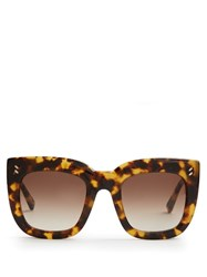 Stella Mccartney D Frame Acetate Sunglasses Tortoiseshell