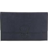 Aspinal Of London Classic Lizard Effect Leather Travel Wallet Blue