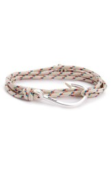 Miansai Men's Hook And Rope Wrap Bracelet Crosby Gray