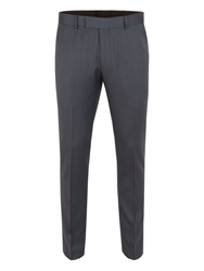 Limehaus Plain Slim Fit Suit Trousers Teal