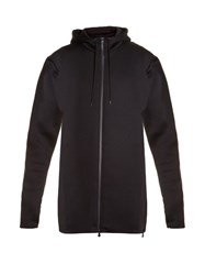 Y 3 Spacer Zip Through Hooded Jacket Black