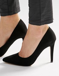 Head Over Heels By Dune Addyson Black Heeled Court Shoes Black