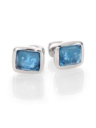 Robin Rotenier Blue Cushion Cuff Links