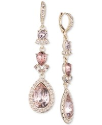 Givenchy Pear Halo Double Drop Earrings Gold
