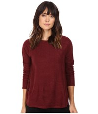 Bb Dakota Ryer Textured Knit Button Side Top Burnt Red Women's Clothing
